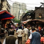 old town at chongqing china